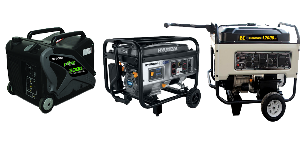 SAM equipment rentals - generators