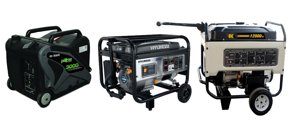 SAM equipment rentals - generators